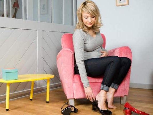 Небольшой каблук при беременности