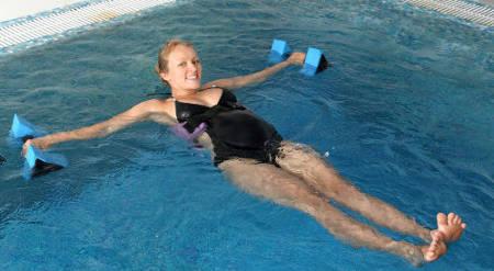 Упражнения в бассейне для беременных 2 триместр